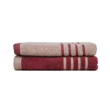 Hand Towel 40 x 60 cm Set of 2 - @home by Nilkamal, Maroon &Beige