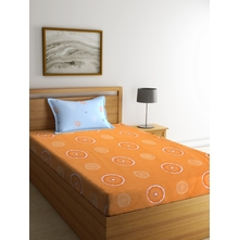 Citrus 150 cm x 225 cm Single Bedsheet, Orange