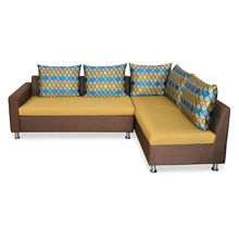Nilkamal Georgetown Lounger Sofa, Brown Mustard