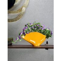 Abstract Lux Vase, Mustard