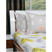 Leaf 250 cm x 274 cm Double Bedsheet - @home by Nilkamal, Maroon