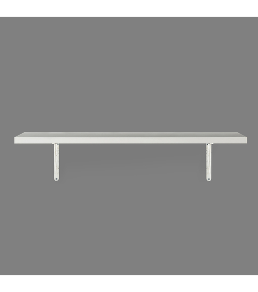 Classic & Janus Medium Wall Shelf - @home by Nilkamal, White