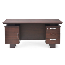 Nilkamal Wales 3+ 1 Drawer Executive Table, Mahogany