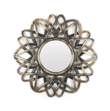 Modern Design Plastic Mirror - @home by Nilkamal, Gold