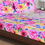 Arcade Floral 230 x 250 cm Double Bedsheet - @home by Nilkamal, Purple