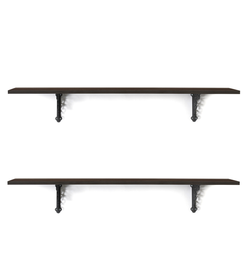 Opera & Ares Big Wall Shelf Set of 2 - @home by Nilkamal, Walnut