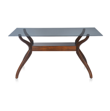 Nilkamal Lopez 6 Seater Dining Table, Walnut