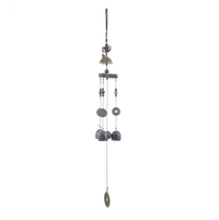 Aeolian Small Hanging Windchime - @home by Nilkamal, Black