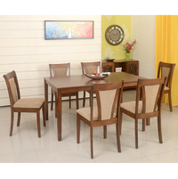 Jewel 6 Seater Dining Set, Walnut
