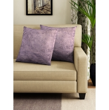 SOLID CUSHION COVER SET OF 2, PURLE