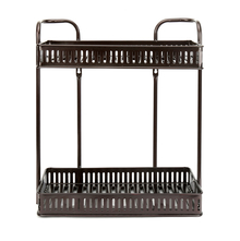 2 Tier Rectangle Storage Rack - @home by Nilkamal, Black