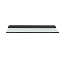 Tasha Wall Shelf (12 X 6) , Black Clear Glass