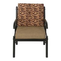 Ginny 1 Seater Sofa - @home by Nilkamal, Black & Brown
