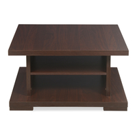 Adrin Center Table - @home by Nilkamal, Dark Walnut