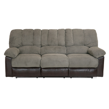 Miller 3 Seater Sofa with 2 Manual Recliners - @home by Nilkamal, Taupe Brown