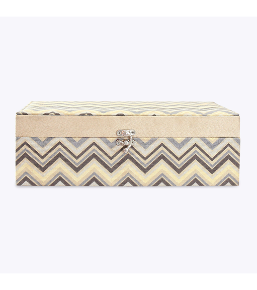 Chevron Storage Box - @home Nilkamal,  beige