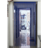 Cyrstal 100 cm x 229 cm Thread Door Curtain - @home by Nilkamal, Indigo