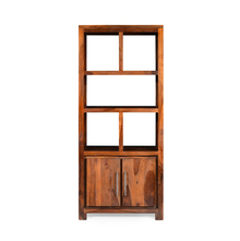 Delmonte Library Cabinet - @home by Nilkamal, Walnut