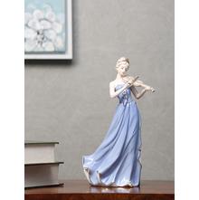 Lady Playing Violin Showpiece, Blue