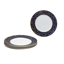 Laopala Sovrana Anassa Quarter Plate Set of 6, Blue