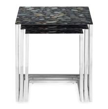 Nilkamal Pebble Glass Nest Table