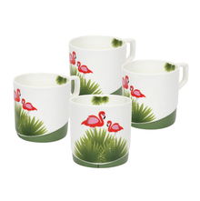 Tropical Juliet 230 ml Tea Set of 4 - @home by Nilkamal, Green