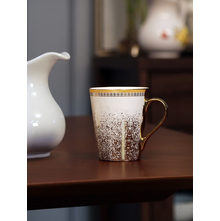 Ebony Zing 200 ml Milk Mug, White & Gold