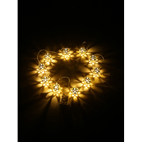 Ball Lamps LED String Lights - @home by Nilkamal, Gold
