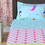 Sun Burst 150 cm x 225 cm Single Bedsheet - @home by Nilkamal, Orange