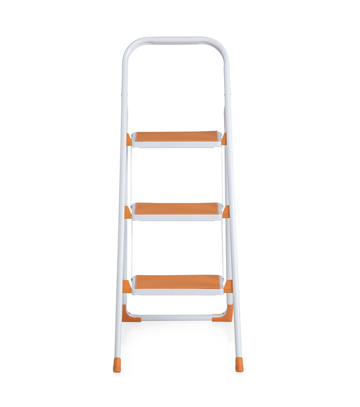Nilkamal Delta 3 Step Ladder - White & Orange