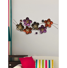 Floral Trial Wall Decor - @home by Nilkamal, Gold