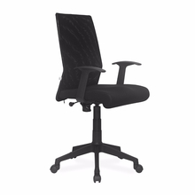 Nilkamal Thames Medium Back Mesh Office Chair, Black