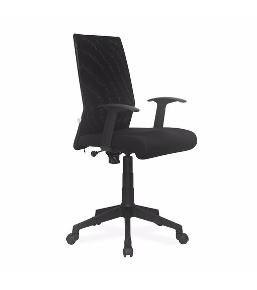 Nilkamal Thames Medium Back Mesh Office Chair, Black