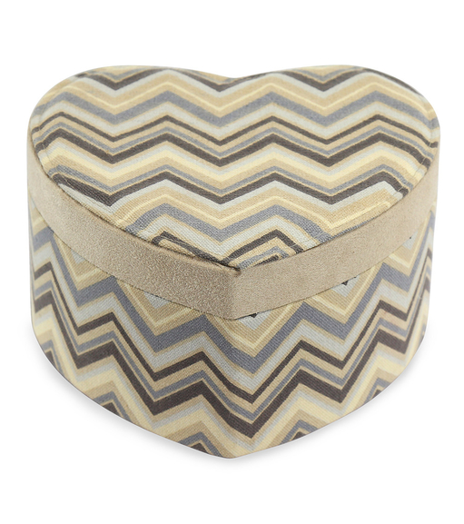Chevron Storage Heart Box - @home Nilkamal,  beige