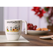 Happiness Modest Talk 250ML Mug, White