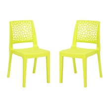 Nilkamal Nexus Chair - Set of 2, Citrus Green