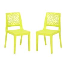 Nilkamal Nexus Chair - Set of 2, Citrus Green