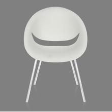 Nilkamal Smile Cafeteria Chair, Milky White