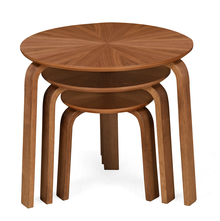 Taksh Nest Table Set Of 3, Walnut