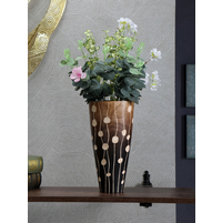 Twilight Wooden Vase, Brown