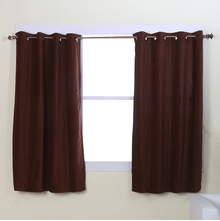 Moshi 122 cm x 152 cm Window Curtain Set of 2 - @home by Nilkamal, Brown