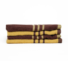 Face Towel 30 X 30 cm Set of 4 - @home by Nilkamal, Yellow & Brown