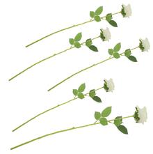 Belinda Rose Flower Stick Set of 5 - @home by Nilkamal, White