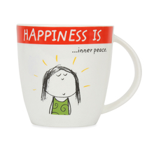 Hap Inner Peace 320 ml Coffee Mug - @home by Nilkamal, Red