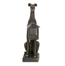 Hound with lantern Showpiece - @home by Nilkamal, Black & Gold