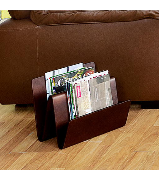 Marco Magazine Rack - @home Nilkamal,  dark walnut