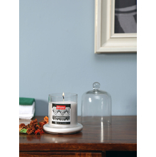 Fresh Cotton Bell Jar Candle, White