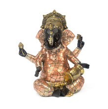 Musical Ganesha Drums Showpiece - @home by Nilkamal, Bronze
