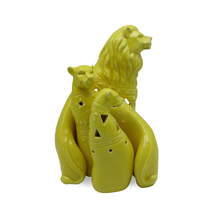 Lion Family Ceramic Showpiece - @home by Nilkamal, Yellow