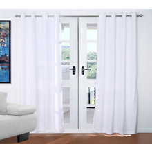 Moshi 112 cm x 214 cm Door Curtain Set of 2 - @home by Nilkamal, White